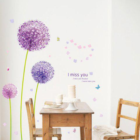 Unique Vinyl Dandelion Pattern Wall Art Sticker