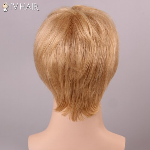 Sale Siv Hair Shaggy Straight Human Hair Men's Wig - AUBURN BROWN  Mobile