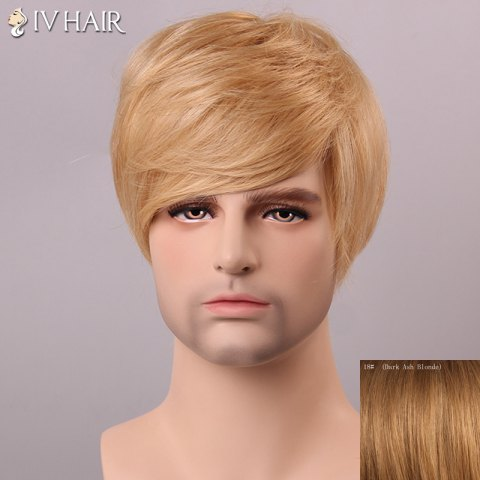Chic Siv Hair Shaggy Straight Human Hair Men's Wig - DARK ASH BLONDE  Mobile
