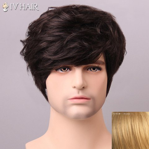 New Shaggy Siv Hair cCurly Human Hair Wig For Men - BLONDE  Mobile