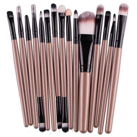 Unique Stylish Multifunction 15 Pcs Plastic Handle Nylon Makeup Brushes Set
