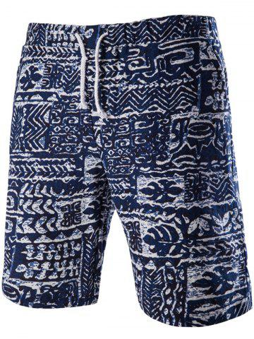 Best Loose Fit Lace Up Printed Boardshorts