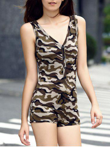 Hot Sleeveless Camouflage Romper