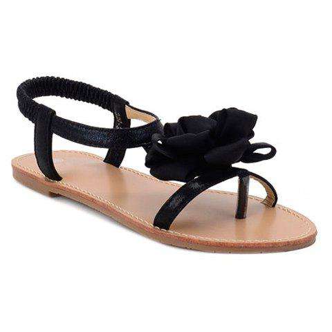 Buy Casual Flower and Elastic Band Design Sandals For Women
