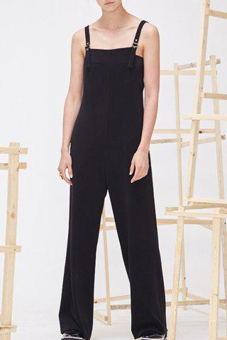 Affordable Pure Color Wide-Leg Jumpsuit