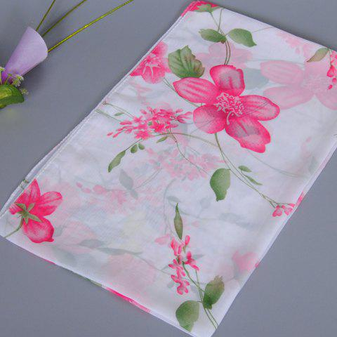 Chic Fresh Style Flower and Leaf Pattern Chiffon Scarf For Women от Rosegal.com INT