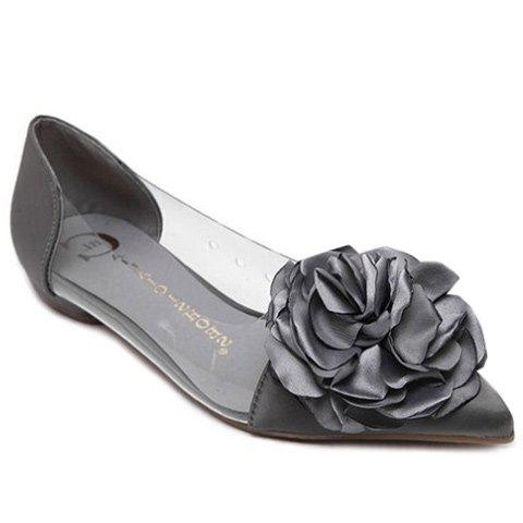 Sale Graceful Flower and Pointed Toe Design Flat Shoes For Women
