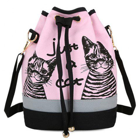 Fashion Casual Color Block and Drawstring Design Satchel For Women