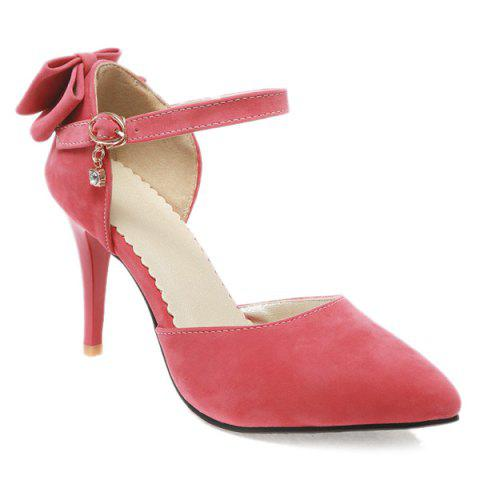 Online Fashion Bowknot and Two-Piece Design Pumps For Women - 39 WATERMELON RED Mobile