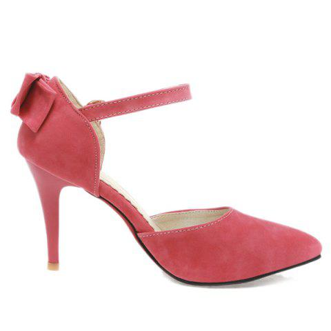 Unique Fashion Bowknot and Two-Piece Design Pumps For Women - 39 WATERMELON RED Mobile