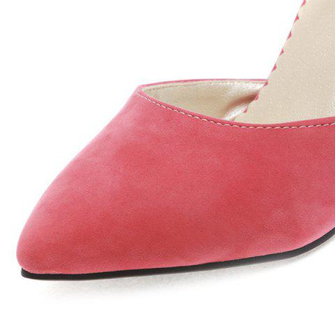Cheap Fashion Bowknot and Two-Piece Design Pumps For Women - 39 WATERMELON RED Mobile