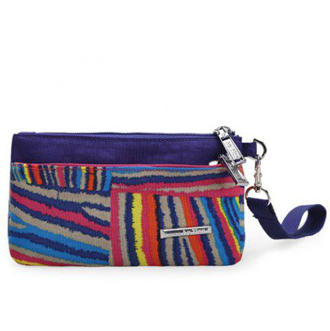 Best Casual Colorful Stripe and Nylon Design Clutch Bag For Women