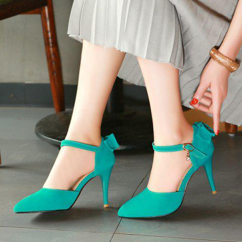 Sale Fashion Bowknot and Two-Piece Design Pumps For Women - 39 GREEN Mobile