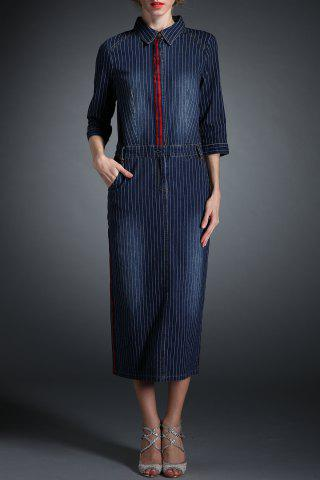 Buy Stripe Maxi Denim Dress