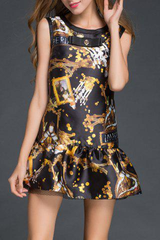 New Sleeveless Bowknot Print Dress