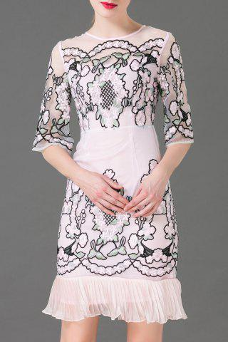 Outfits Embroidered Ruffles Organza Dress