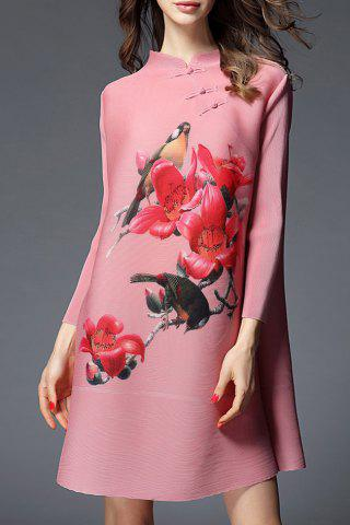 Shop Long Sleeve Floral Shift Dress