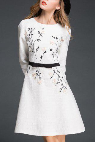 Unique Lady Style Stereo Flower Dress