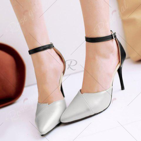 Store Graceful Two-Piece and Hit Color Design Pumps For Women - 37 SILVER Mobile