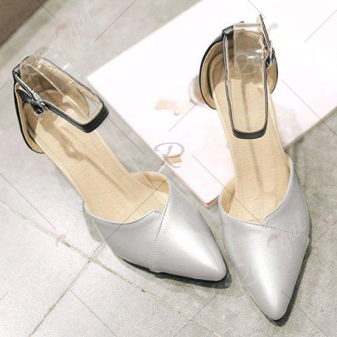 Shop Graceful Two-Piece and Hit Color Design Pumps For Women - 37 SILVER Mobile