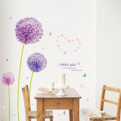 Vinyl Dandelion Pattern Wall Art Sticker -