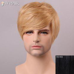 Siv Hair Shaggy Straight Human Hair Men's Wig