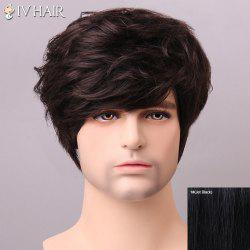 Shaggy Siv Hair cCurly Human Hair Wig For Men -