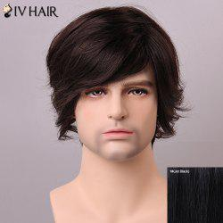 Siv Hair Fashion Side Bang Human Hair Wig For Men -