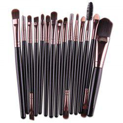 Stylish 15 Pcs Multifunction Plastic Handle Nylon Makeup Brushes Set
