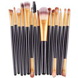 Stylish 15 Pcs Plastic Handle Nylon Makeup Brushes Set