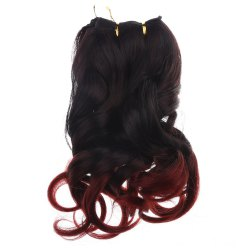 Vogue Fluffy Wavy Ombre Color Capless Synthetic Hair Extension For Women