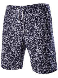 Trendy Lace Up Printed Boardshorts For Men