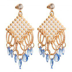 Pair of Water Drop Rhinestone Embellished Earrings