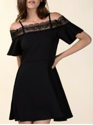 Chic Women's Laced Hollow Out Dress -