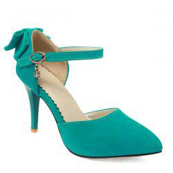 Fashion Bowknot and Two-Piece Design Pumps For Women - GREEN