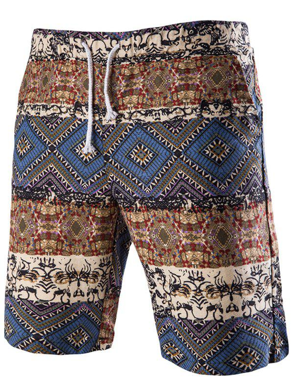 Outfits Drawstring Tribal Printed Loose Fit Boardshorts