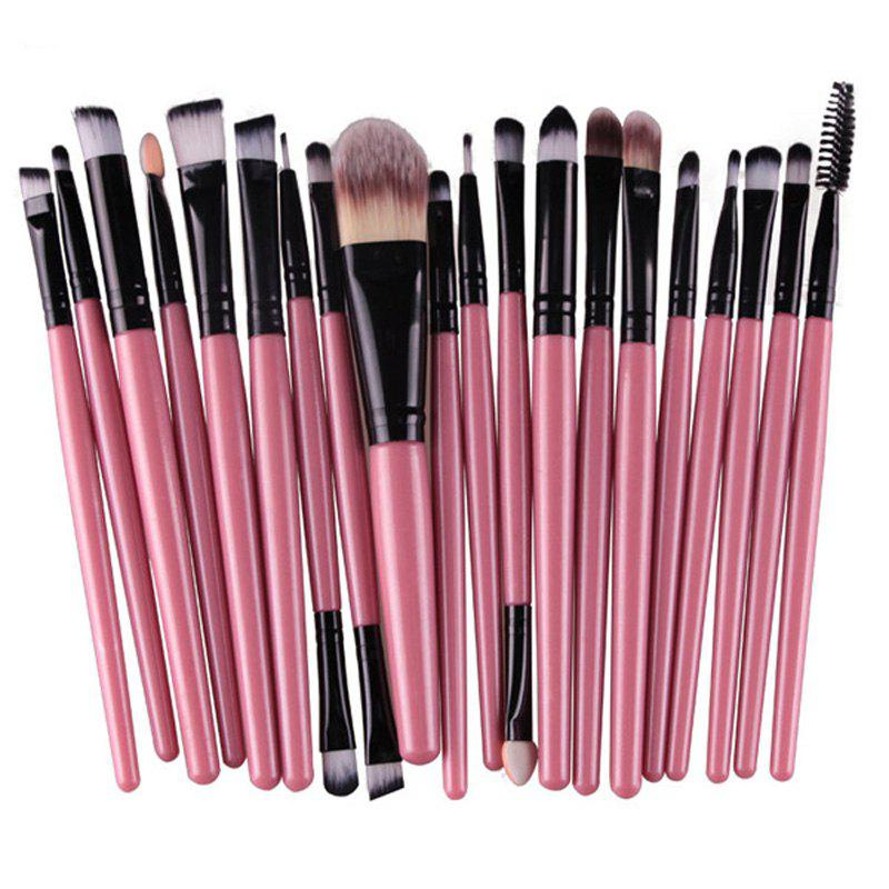 Stylish 20 Pcs Multifunction Plastic Handle Nylon Makeup Brushes SetBEAUTY<br><br>Color: PINK; Category: Makeup Brushes Set; Brush Hair Material: Nylon; Features: Hypoallergentic; Season: Fall,Spring,Summer,Winter; Weight: 0.150kg; Package Contents: 20 x Makeup Brushes (Pcs);