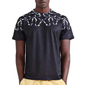 Round Neck Stylish 3D Snake Print Short Sleeve T-Shirt For Men