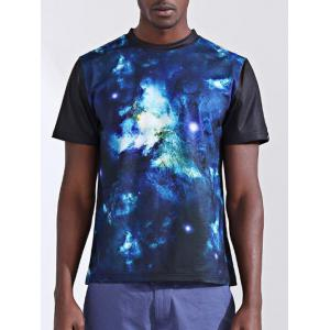 Fashion Printing Round Collar Short Sleeves T-Shirt For Men