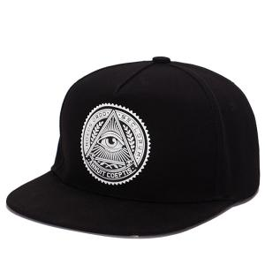 Stylish Retro Egypt Style Eye Round Labelling Hip-Hop Baseball Cap - Black