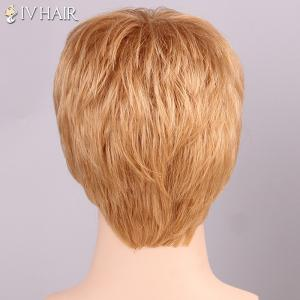 Siv Hair Shaggy Full Bang Human Hair Men's Wig -