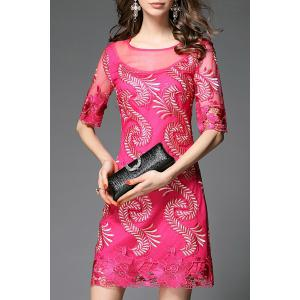 Sheath Embroidered Dress -