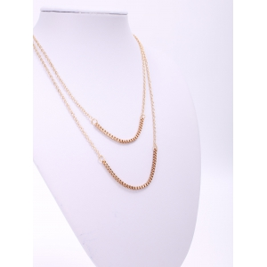 Chic Women's Bilayered Link Necklace -