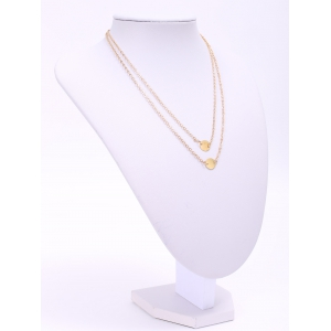 Trendy Solid Color Sequins Embellished Double-deck Necklace For Women -