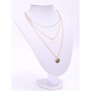 Chic Solid Color Sequins Embellished Multi-Layered Women's Necklace - GOLDEN