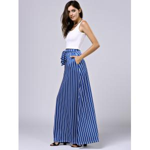 Cropped Tank Top and Striped Pocket Maxi Skirt -