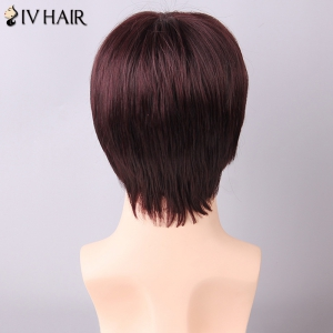 Siv Hair Men's Straight Side Bang Human Hair Wig - DARK ASH BLONDE