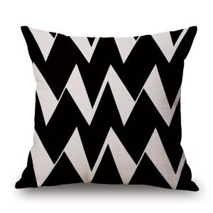 Chic Quality Cotton and Linen Ripple Geometric Pillowcase