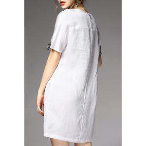 Hollow Out Lace-Up Mini Dress - WHITE XL