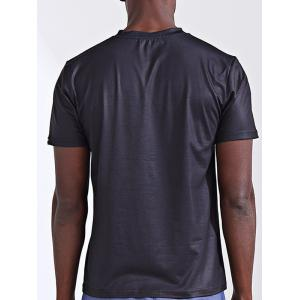 Round Neck Stylish 3D Abstract Splicing Print Short Sleeve T-Shirt For Men - COLORMIX 2XL